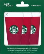 Starbucks Gift Cards, Multipack of 3