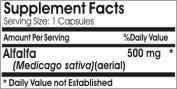 Alfalfa 500mg 100 Capsules * Baylon Naturals Supplements