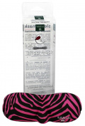 Earth Therapeutics Sleep Mask - Ergonomic - Zebra - Pink - Small
