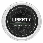 Beard Balm for The Modern Gentleman by Liberty Premium Grooming Co. ※ Premier Cedar + Pine Whisker Softener & Conditioner w/ Natural Blend Of Essential Oils for Your Goatee, Moustache, & More