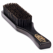 Beard Brush for the Modern Gentleman by Liberty Premium Grooming Co. ※ Guaranteed 100% Firm Boar Bristle ※ The Best Tool To Groom Your Beard and Moustache When Used With Balm or Oil