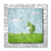 All My Walls 'Turtle Wishes' by All Artsy Graphic Art Plaque