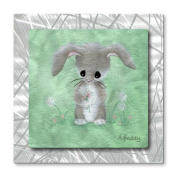 All My Walls 'Bunny' by All Artsy Graphic Art Plaque
