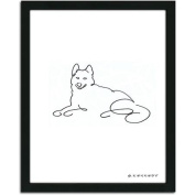 Personal-Prints Husky Dog Line Drawing Framed Art