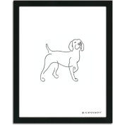 Personal-Prints Pointer Dog Line Drawing Framed Art