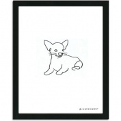 Personal-Prints Chihuahua Dog Line Drawing Framed Art