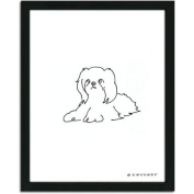 Personal-Prints Shih Tzu Dog Line Drawing Framed Art