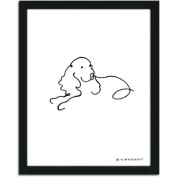 Personal-Prints Spaniel Dog Line Drawing Framed Art