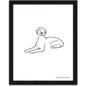Personal-Prints Weimariner Dog Line Drawing Framed Art