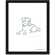 Personal-Prints Scottish Terrier Dog Line Drawing Framed Art