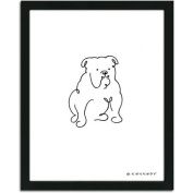 Personal-Prints Bulldog Dog Line Drawing Framed Art