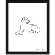 Personal-Prints Rottweiler Dog Line Drawing Framed Art