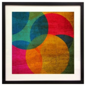 Neon Circle Framed Wall Art - 20W x 20H in.