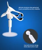 Brilink ST06 360 Degrees Rotation Desk / Bed Handsfree Flexible Neck Clip Holder for Phone - White-xd
