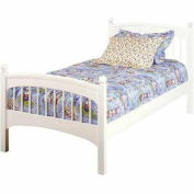 Bolton Furniture Windsor Twin Bed, White
