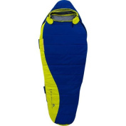 Ozark Trail 10-Degree Adult Thinsulate Packable Size Adjustable Sleeping Bag, Blue/Lime