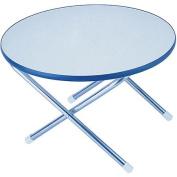 Garelick Folding Deck Table Melamine Top Series, 60cm Round