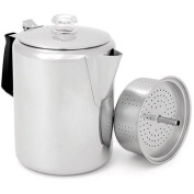 GSI Outdoors Glacier Stainless 12-Cup Percolator with Silicone Handle