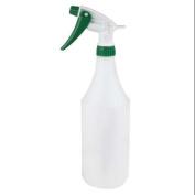GRAINGER APPROVED 950ml White/Green, HDPE Trigger Spray Bottle, 3 Pack, 130296