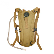 2L Hydration System Climbing Survival Hiking Pouch Backpack Bladder Water Bag - Khaki
