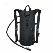 2L Hydration System Climbing Survival Hiking Pouch Backpack Bladder Water Bag - Black