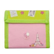 Aquarella Kids Girls Pink Green Paris Wallet