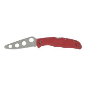 Spyderco Knives 10TR Endura 4 Trainer Lockback Knife with Red FRN Handles Multi-Coloured