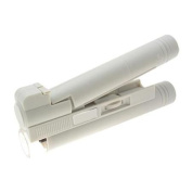 White Portable Pocket LED 40X Microscope Magnifier with Scale