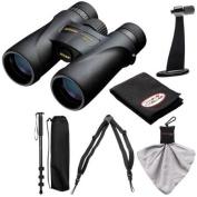 Nikon Monarch 5 12x42 ED ATB Waterproof/Fogproof Binoculars with Case + Harness + Tripod Adapter & Monopod + Kit