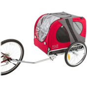Rage Powersports PT-10117-R Red Pull-Behind Dog Bicycle Trailer with an 39kg. Capacity