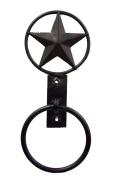 IRON TOWEL RING, STAR DESIGN-30cm TALL.