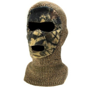 QuietWear Knit and Fleece Patented Mask, Adventure Brown
