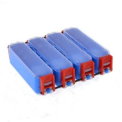 Blue Plastic 4 Compartments Angling Fishing Box Container