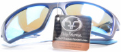 Flying Fisherman Cove Navy with Smoke Blue Mirror Sunglasses