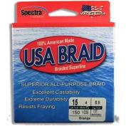 USA BRAID 6.8kg Braided Superline, 150yds, Orange