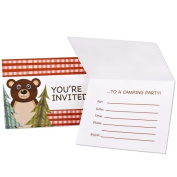 Party Destination 235626 Lets Go Camping Invitations