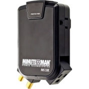 Minuteman Ups Wall Tap - 3 - Side-mounted Outlets 180 Joules Coax - MMS130RC