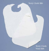 North Coast Medical NC35404 Terry Cloth-Vinyl Bib 46cm . x 70cm .