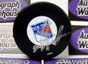 Autograph Warehouse 12771 Mike Gartner Autographed Hockey Puck New York Rangers
