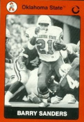 Autograph Warehouse 91691 Barry Sanders Football Card Oklahoma State 1990 Collegiate Collection No . 76