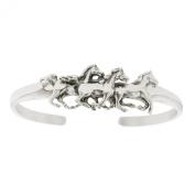 Sterling Silver Horse Kabana Cuff Bracelet