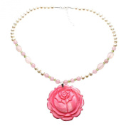 Mother-of-Pearl Rose Quartz Freshwater Cultured Pearls Necklace, 46cm +5.1cm Ext