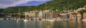 Panoramic Images PPI56898L Boats in a river Bergen Hordaland Norway Poster Print by Panoramic Images - 36 x 12