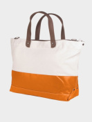Peerless LAT001-Natural-Orange Vineyard Tote Bag - Clearance Natural And Orange