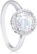 Doma Jewellery MAS09396-9 Sterling Silver Ring with Cubic Zirconia Size 9