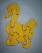 THE PUZZLE-MAN TOYS W-1117 Wooden Educational Jig Saw Puzzle - Mother Duck