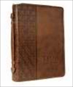 Christian Art Gifts 361356 Bi Cover Classic Luxleather Trust Medium Brown