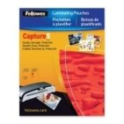 FELLOWES 52010 FellowesLaminating PouchGlossy 4x6 Photo25pk