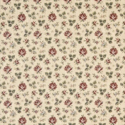 Designer Fabrics F909 140cm . Wide Gold Burgundy And Green Floral Tapestry Upholstery Fabric