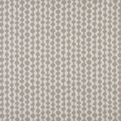 Designer Fabrics K0010F 140cm . Wide Grey And Off White Circle Striped Designer Quality Upholstery Fabric